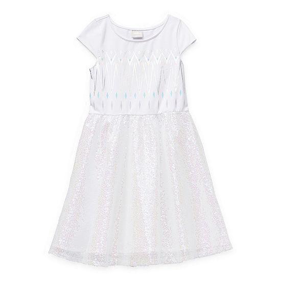 Disney Little & Big Girls Short Sleeve Cap Sleeve Frozen Tutu Dress