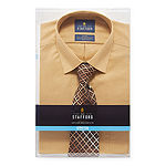 Stafford Mens Spread Collar Long Sleeve Stretch Dress Shirt