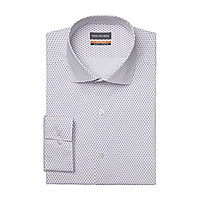 Van Heusen Mens Stain Shield Wrinkle Free Stretch Dress Shirt