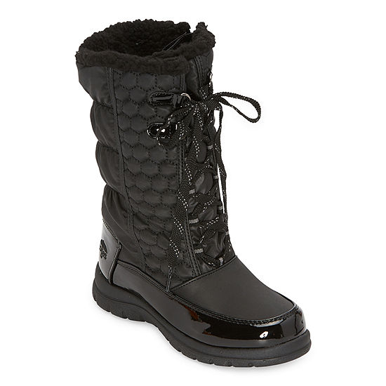Totes Little Kid/Big Kid Girls Katey II Waterproof Flat Heel Winter Boots
