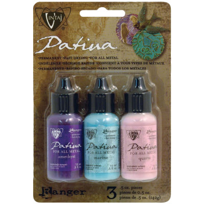 Vintage Patina Victorian Gable Ink Kit Amethyst/Marine/Quartz