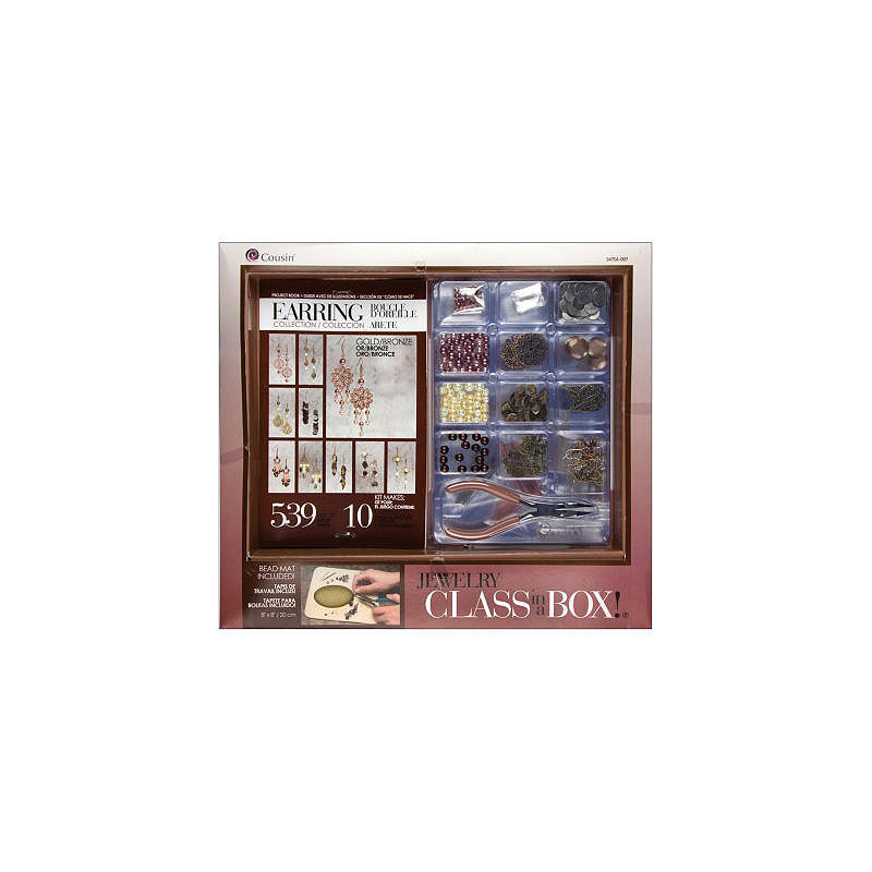 Cousin Jewelry Class in a Box- Gold/Bronze Earring Collection Kit