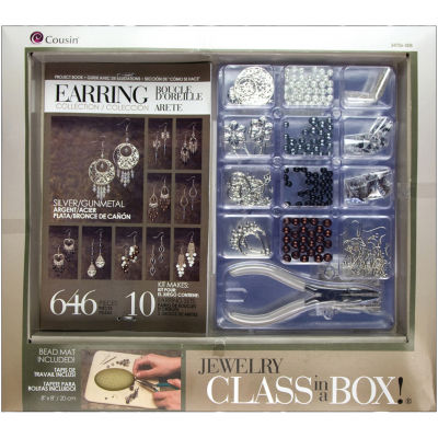 Cousin® Jewelry Class In A Box! - Silver Earring Collection Kit