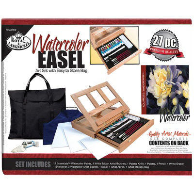 Easel Art Set With Watercolor Bag