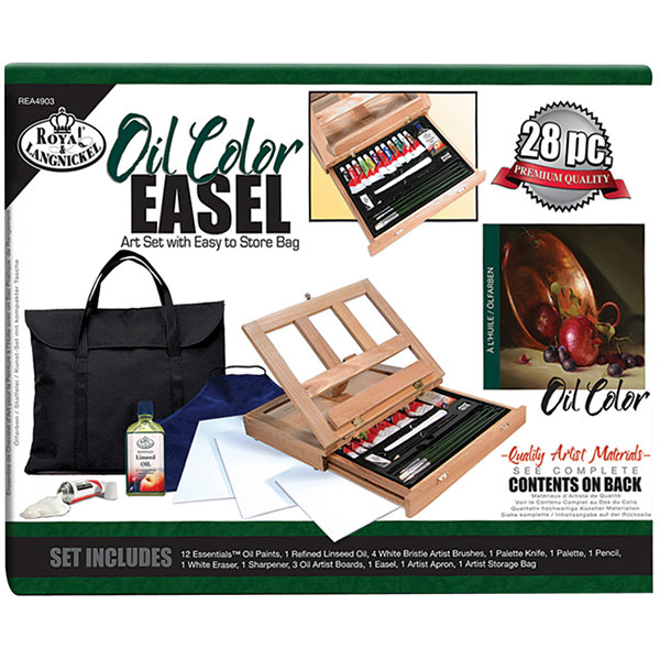 Oil Color Easel Art Set With Easy Store Bag