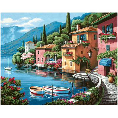 "Paint By Number Kit 20 X 16""- Lakeside Village"
