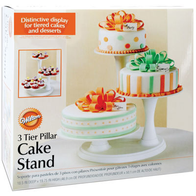 3-Tier Pillar Cake Stand - Off-White
