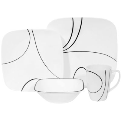 Corelle® Square™ Simple Lines 16-pc. Dinnerware Set  sc 1 st  JCPenney & Corelle Square 16 pc Simple Lines Dinnerware Set