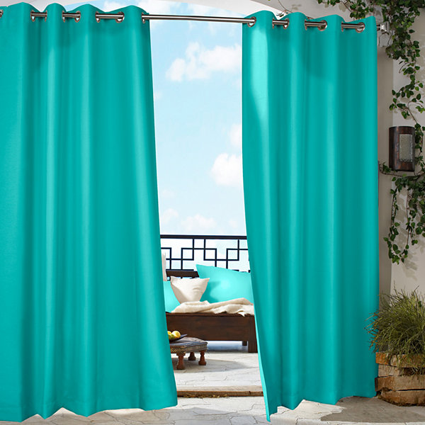 Outdoor Curtain Part - 32: Gazebo Solid Grommet-Top Outdoor Curtain Panel