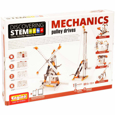Engino Stem Mechanics Pulley Drives 8-Pc. Building Set