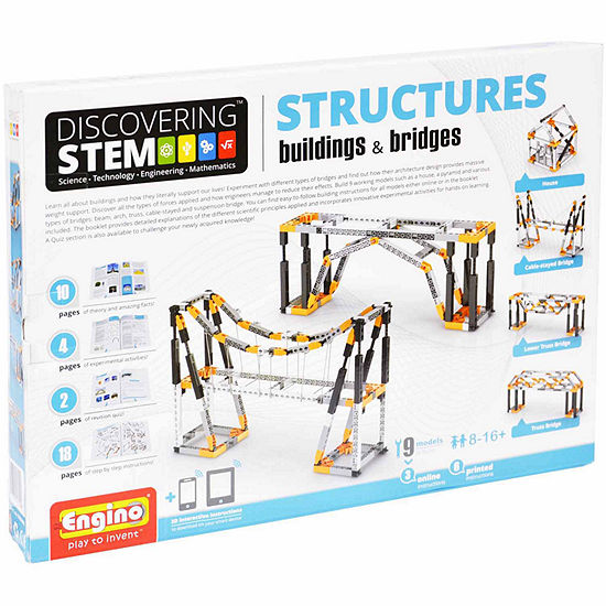 Engino Stem Mechanics Buildings Bridge 9 Pc Building Set