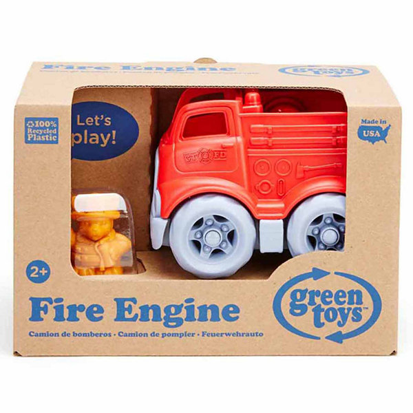 Green Toys Mini Fire Engine W  Character  Accessory