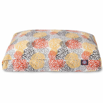 Majestic Pet Citrus Blooms Rectangle Dog Bed