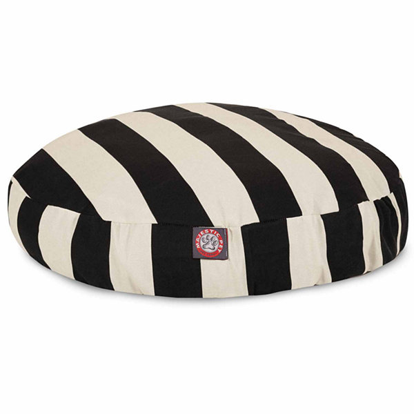 Majestic Pet Vertical Stripe Round Dog Bed