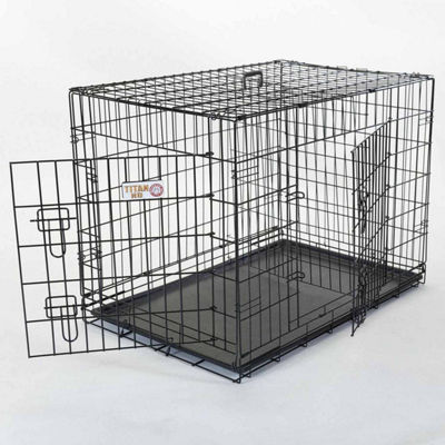 "42"" Majestic Pet Double Door Folding Dog Crate"