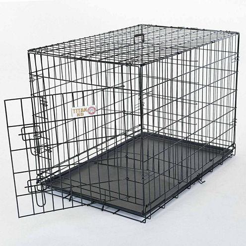"""42"""" Majestic Pet Single Door Folding Dog Crate"""