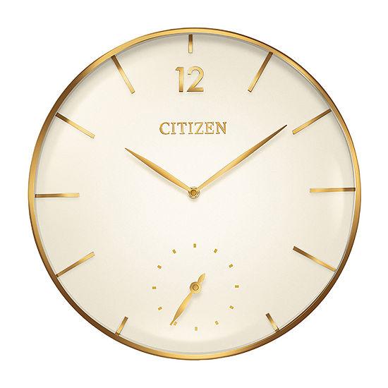 Citizen White Wall Clock-Cc2034