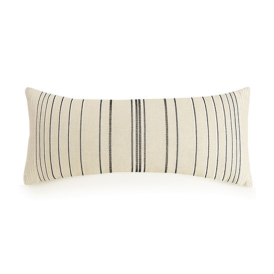 Ayesha Curry Natural Instints Embroidered Stripe Rectangular Throw Pillow