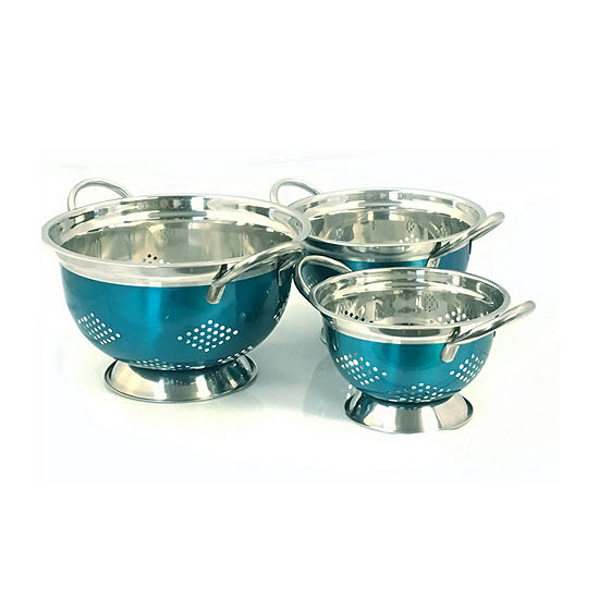Oster Metaline 3 Pack Stainless Steel Asian Colander