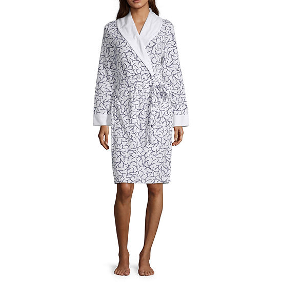 Liz Claiborne Womens Printed Spa Robe