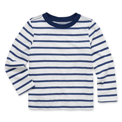 Peyton & Parker Long Sleeve Crew Neck T-Shirt-Toddler Boys