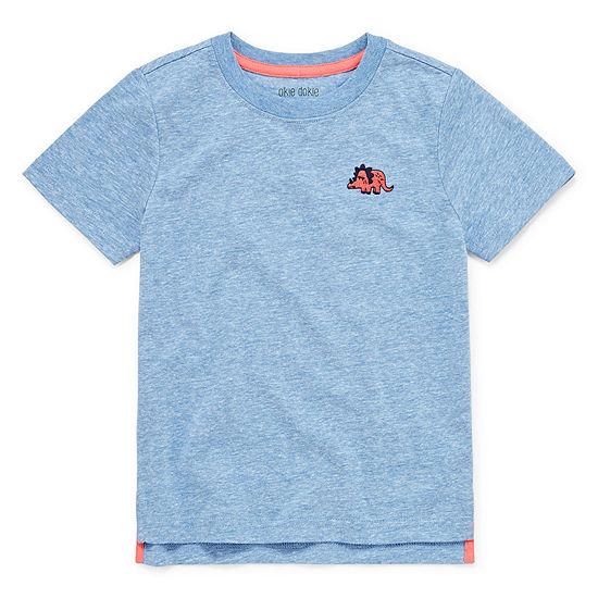 Okie Dokie Boys Crew Neck Short Sleeve T-Shirt-Toddler