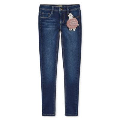 Squeeze Skinny Jean w/ Furry Llama Keychain - Girls' 4-16