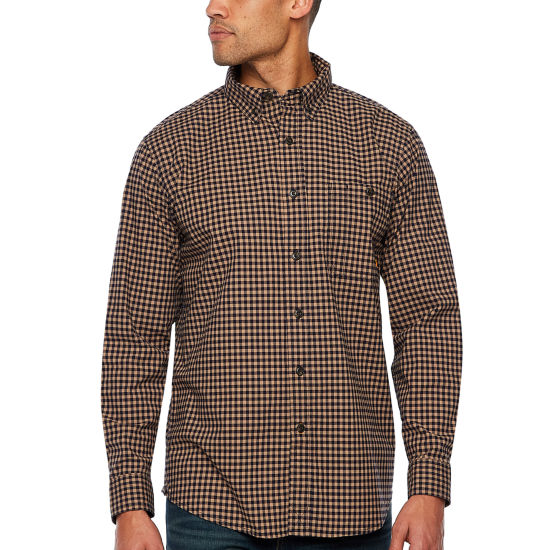 Walls Long Sleeve Plaid Button-Front Shirt