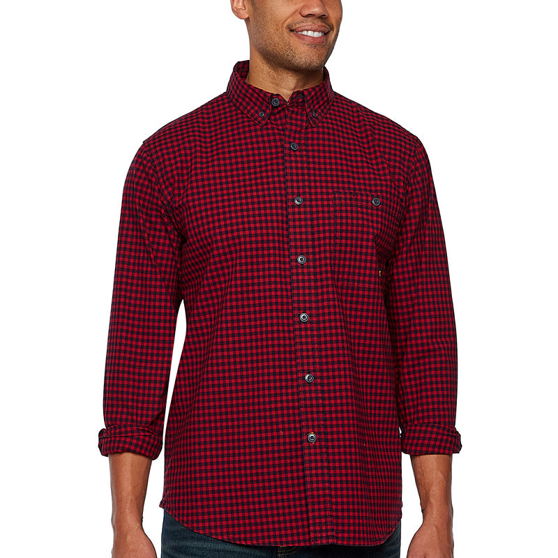 image of Walls Long Sleeve Plaid Button-Front Shirt