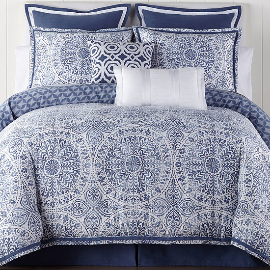 Liz Claiborne Melbourne 4 Pc Reversible Comforter Set