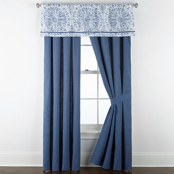 Liz Claiborne Melbourne Embellished Rod-Pocket Single Curtain Panel