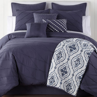 JCPenney Home Egan 10-pc. Embellished Comforter Set