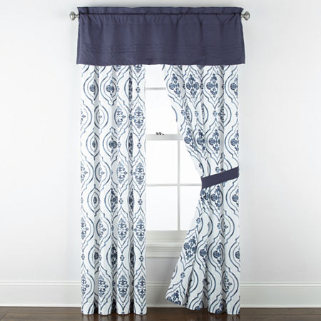 JCPenney Home Egan Light-Filtering Rod-Pocket Single Curtain Panel, One Size , Multiple Colors