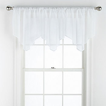Home Expressions Crushed Voile Rod Pocket Ascot Valance