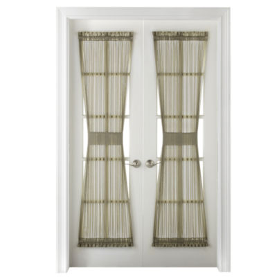 Home Expressions Crushed Voile Rod-Pocket Door Panel Curtain