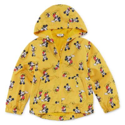 Disney Boys Mickey Mouse Hooded Lightweight Raincoat Preschool / Big Kid