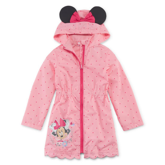 Disney Girls Minnie Mouse Lightweight Raincoat Preschool / Big Kid