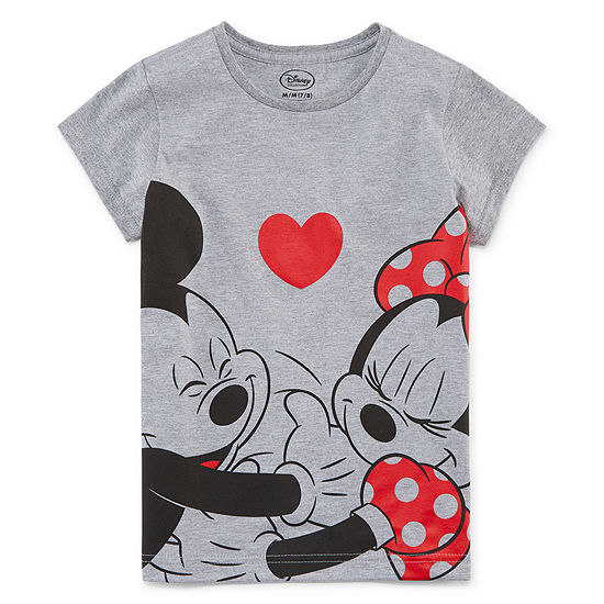 Disney Girls Crew Neck Short Sleeve Minnie Mouse Graphic T-Shirt - Preschool / Big Kid