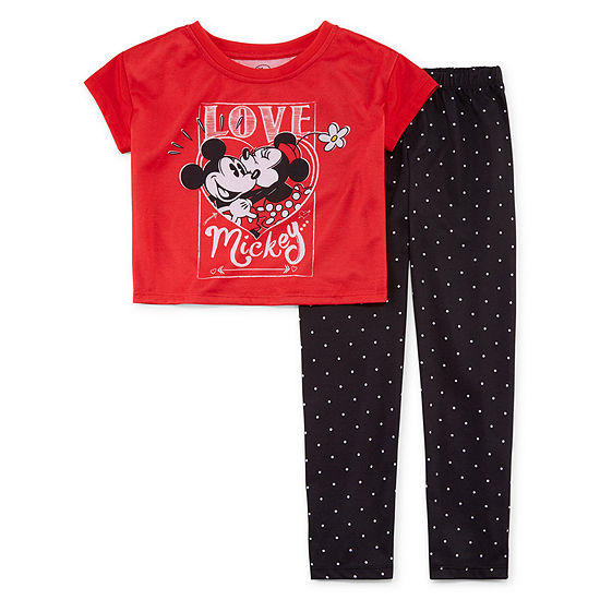 Disney Girls 2-pc. Minnie Mouse Pajama Set Toddler