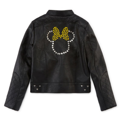 Disney Girls Minnie Mouse Lightweight Motorcycle Jacket Preschool / Big Kid