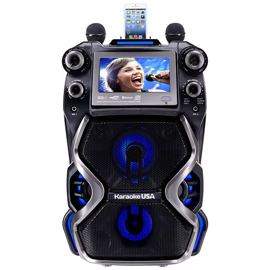 """Portable Professional CDG/MP3G Karaoke Player, 7"""" Color TFT Display, Record Function, Rechargable Lithium Battery and PA System"""