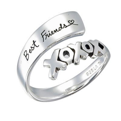 Footnotes Xoxo Best Friends Womens Sterling Silver Band