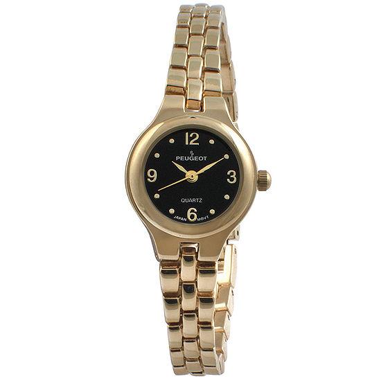 Peugeot Womens Gold Tone Strap Watch 1015gbk
