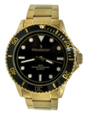 Peugeot Mens Gold Tone Bracelet Watch-1023gbk