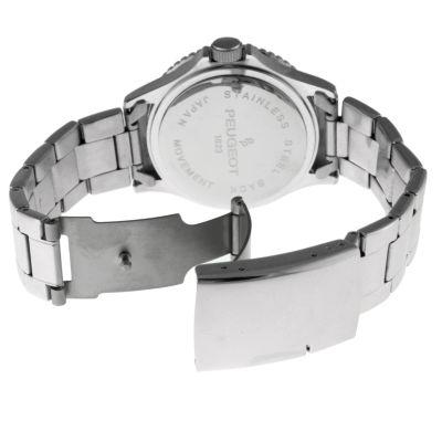 Peugeot Mens Silver Tone Bracelet Watch-1023sbl