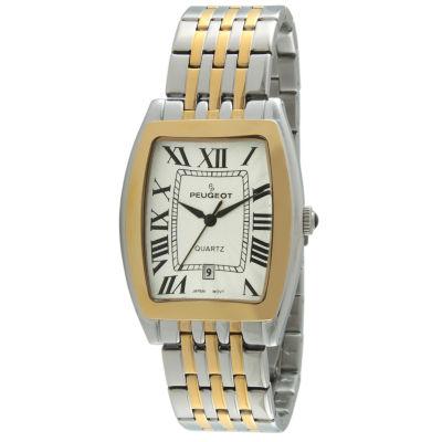Peugeot Mens Two Tone Bracelet Watch-1041tt