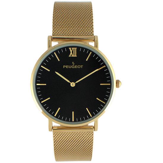 Peugeot Mens Gold Tone Bracelet Watch 2050msh