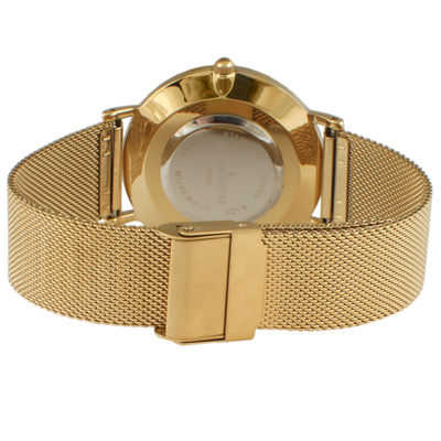 Peugeot Mens Gold Tone Bracelet Watch-2050msh