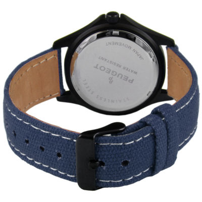 Peugeot Mens Blue Strap Watch-2055bl