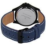 Peugeot Mens Blue Leather Strap Watch-2055bl